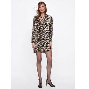 Zara Leopard New Animal Print Casual Dress